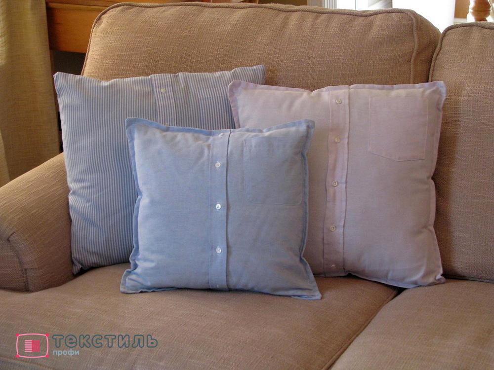 Как сшить диванную подушку без молнии