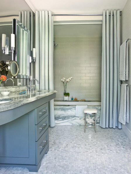 занавески в ванную вместо шторки