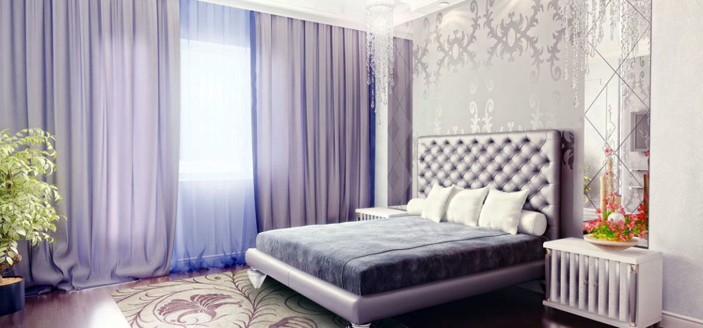Как подобрать шторы в спальню?