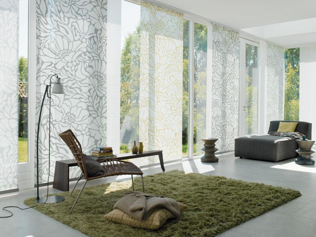 Японские шторы в интерьере, какие материалы и виды лучше выбирать?