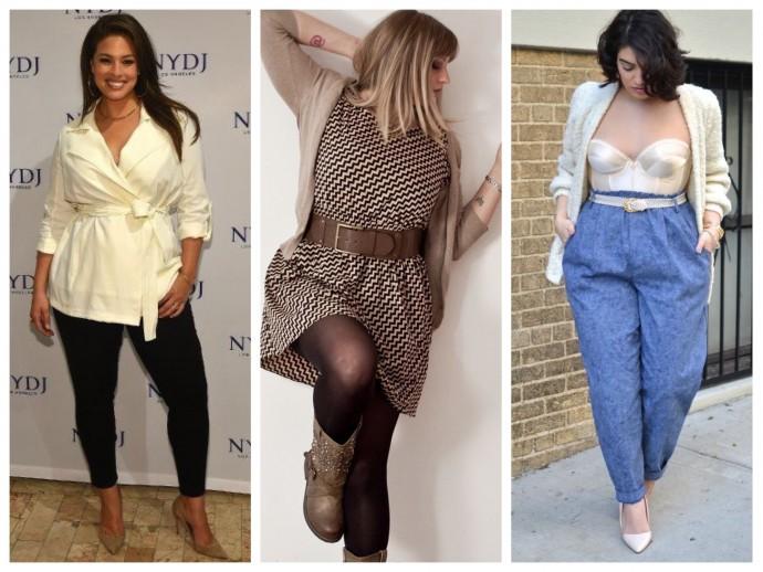 Как одеваться полным женщинам, практические советы стилистов с фото