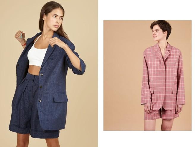 Модный образ на лето — костюм с шортами