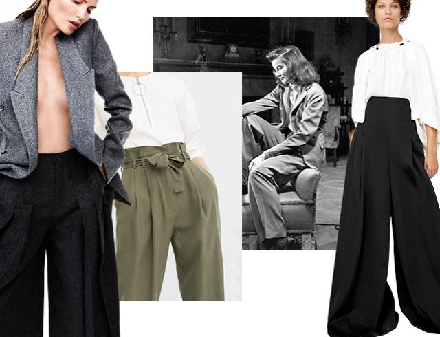 Широкие брюки «в пол» — модный тренд сезона