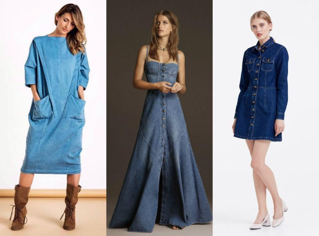 Модные модели незаменимых для лета джинсовых платьев, обзор 2019