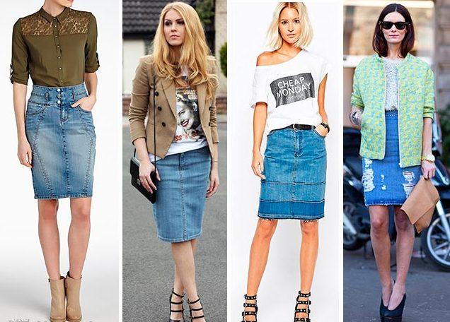 Самые модные модели джинсовых юбок и правила сочетания с другими предметами одежды