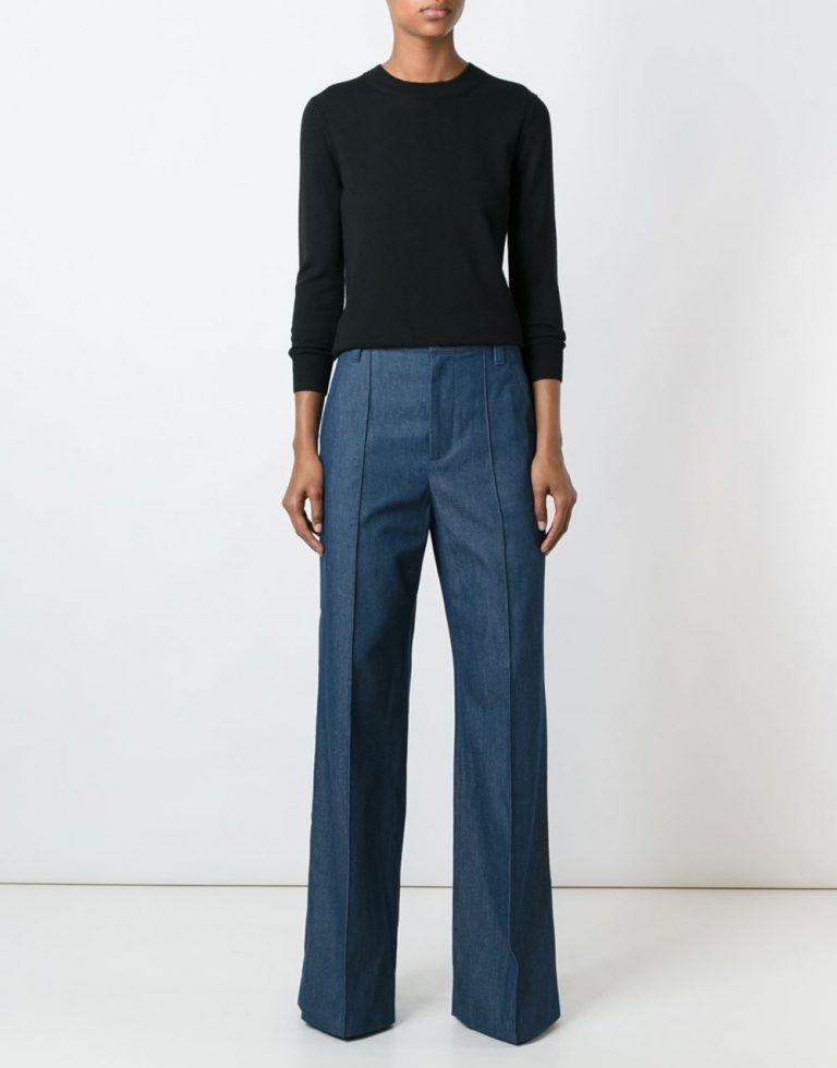 джинсовые ультрадинные брюки