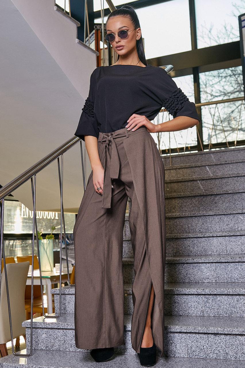 ультрадинные брюки с разрезами
