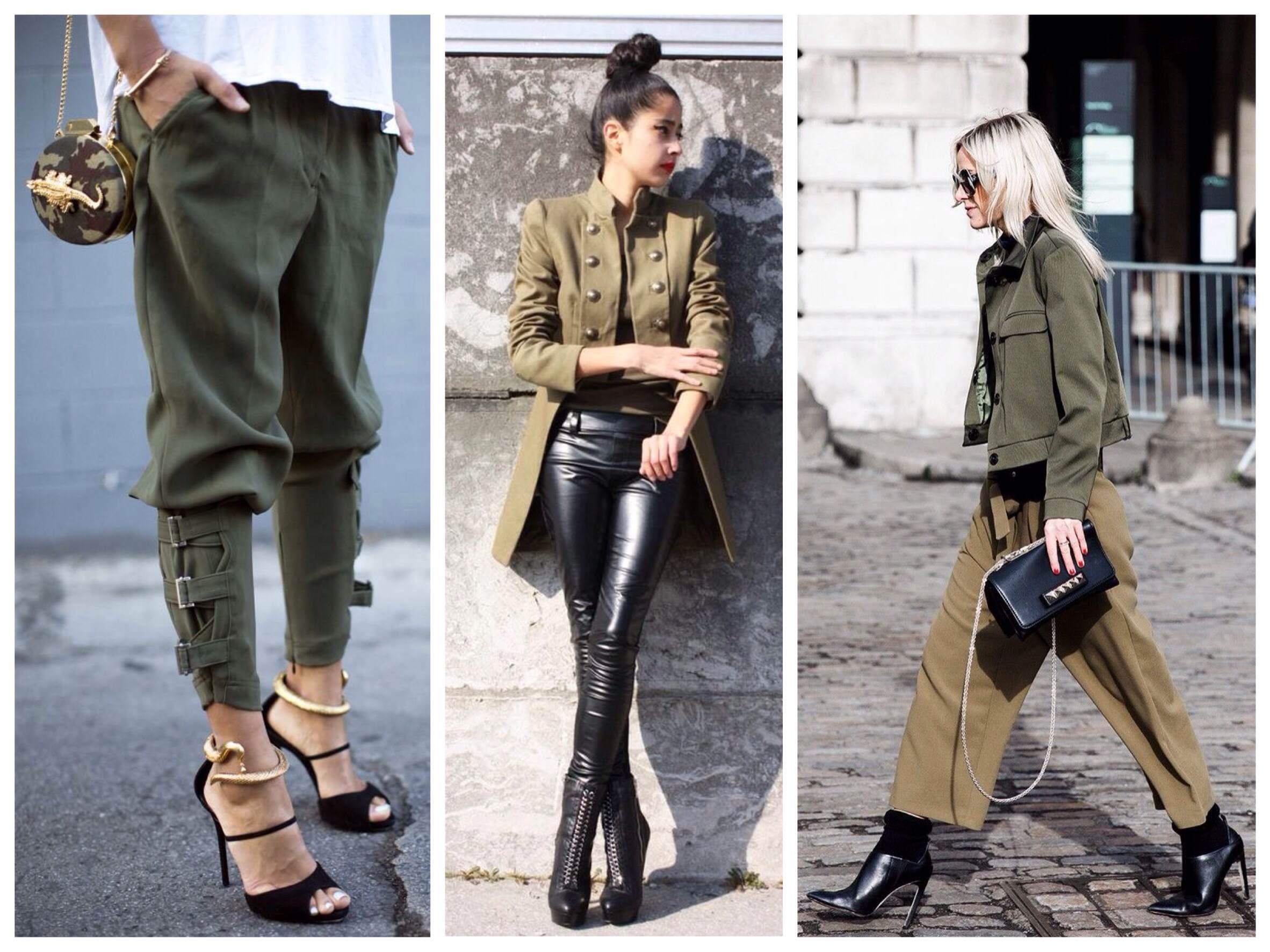 модные луки в стиле милитари