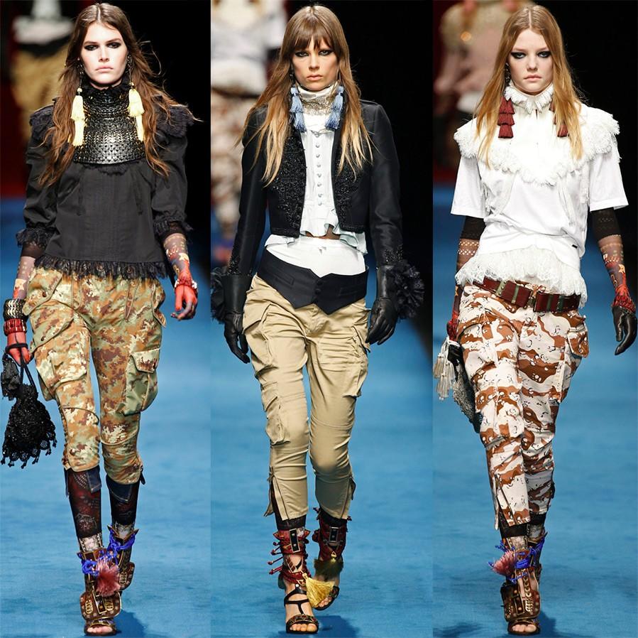 комплекты с брюками в стиле милитари