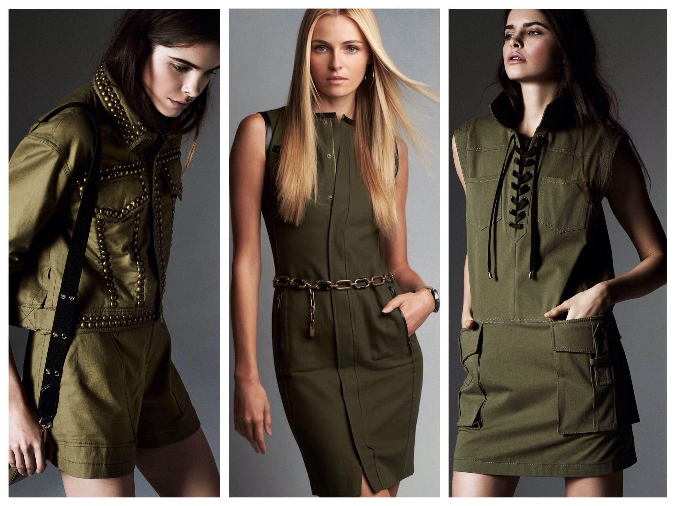 модный платья в стиле солдата Джей
