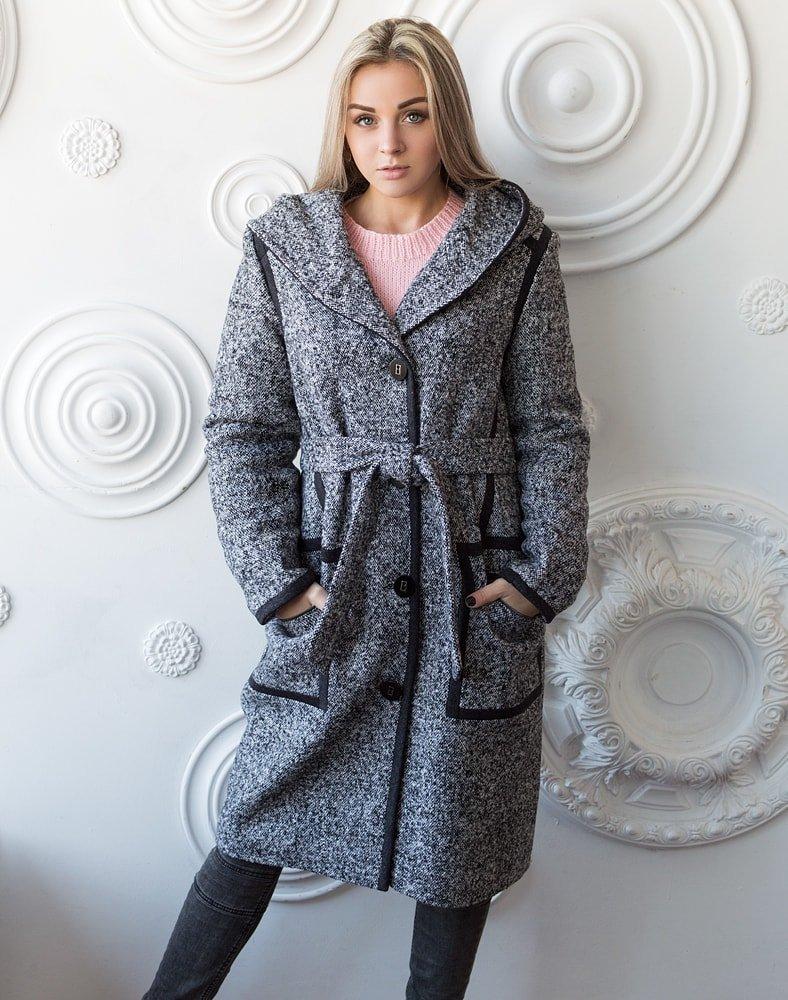 пальто из твида