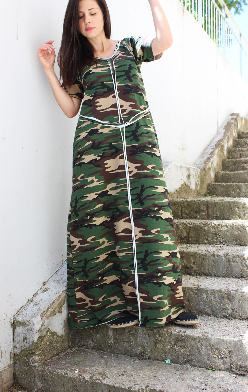 трикотажное платье в стиле солдата Джейн