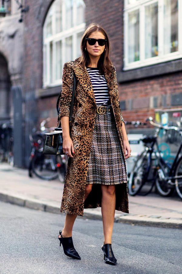 пальто в леопардовом стиле