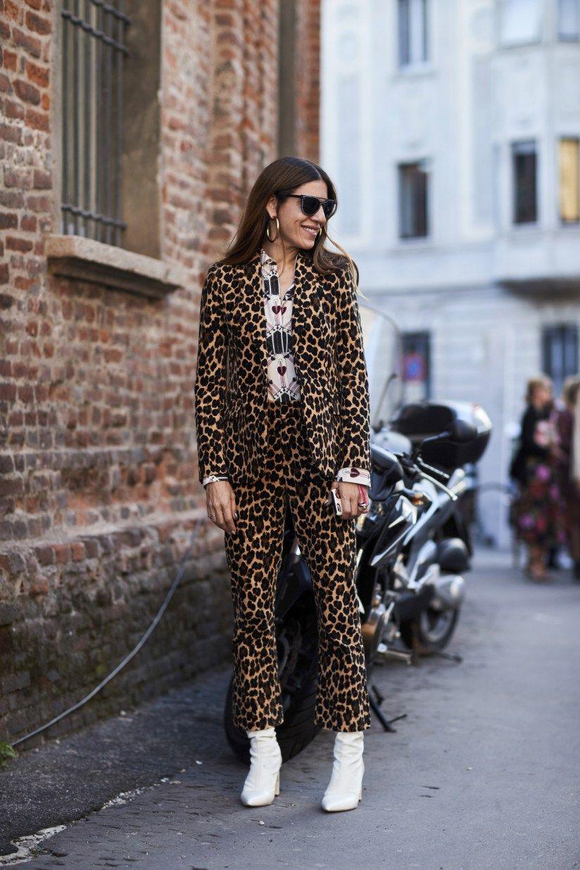костюм в леопардовом стиле