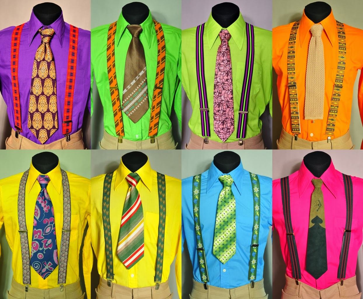 яркие рубашки стиляг