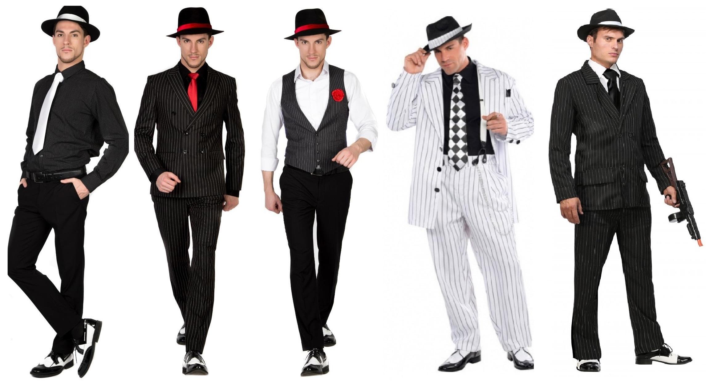 образ гангстера 20-х в современных костюмах