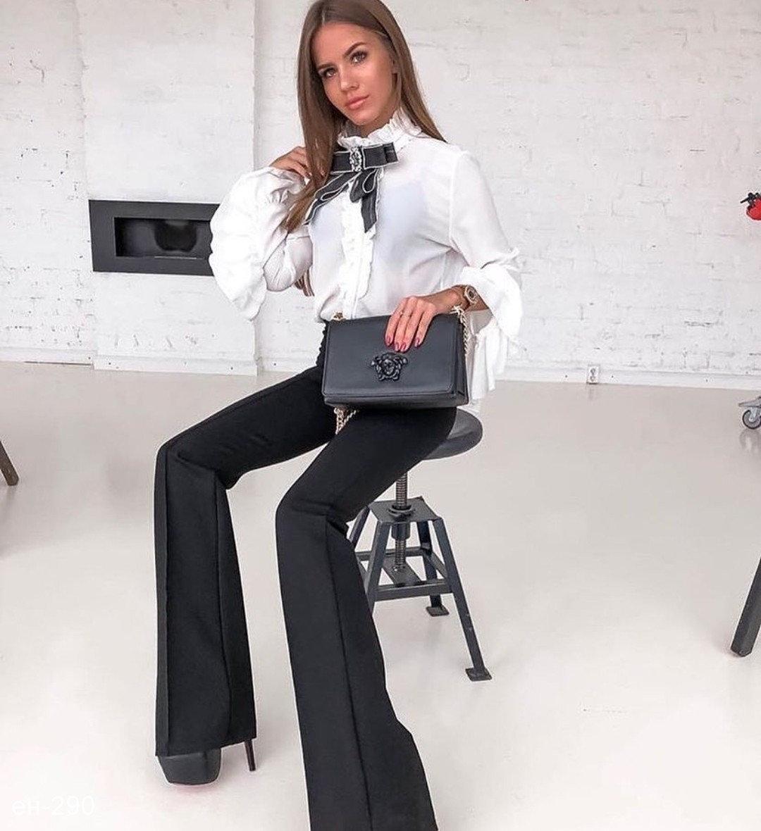 элегантные ультрадинные брюки