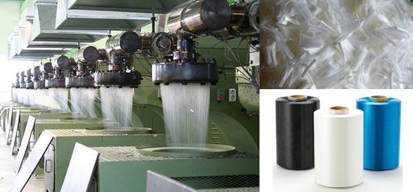 производство волокна из полиэстра