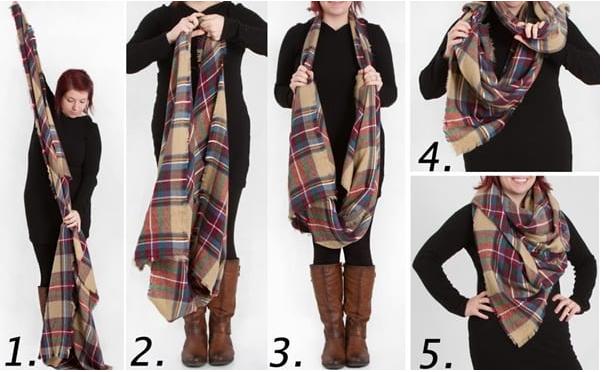 Способы завязать палантин на пальто: красиво и стильно