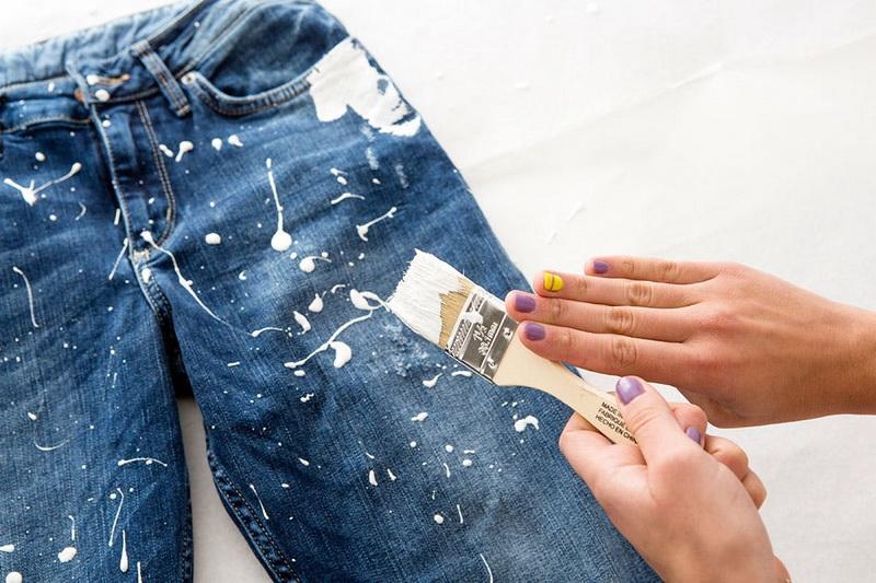 Как и чем лучше отстирать краску с одежды