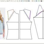 Выкройки и пошаговые инструкции изготовления  женского свитшота с капюшоном и без