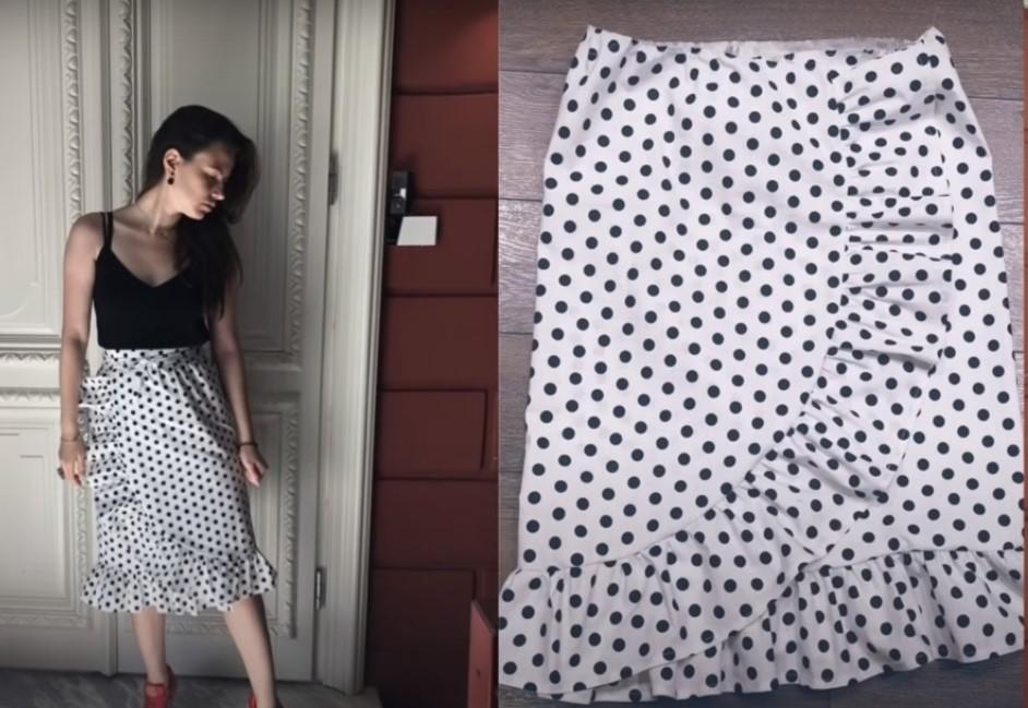 Как сшить юбку с запахом на завязках самостоятельно