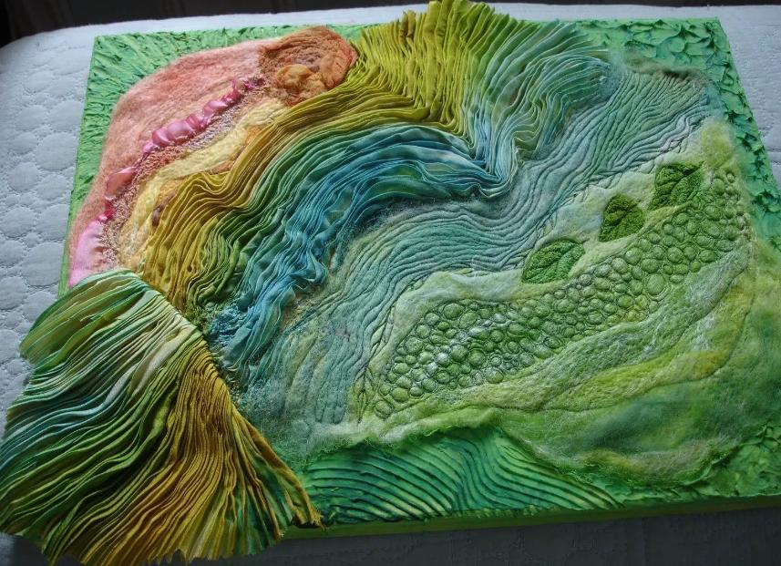 Техника росписи акриловыми красками по ткани