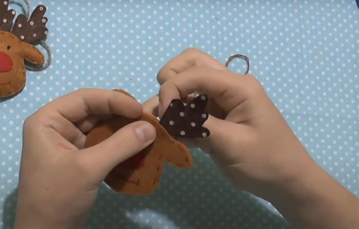 Новогодние аппликации из фетра своими руками с выкройками, схемами и шаблонами