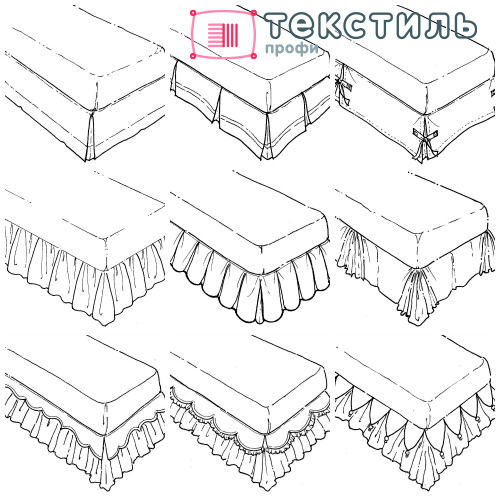 Подзор для кровати: как выбрать нарядную юбочку для оформления спальни