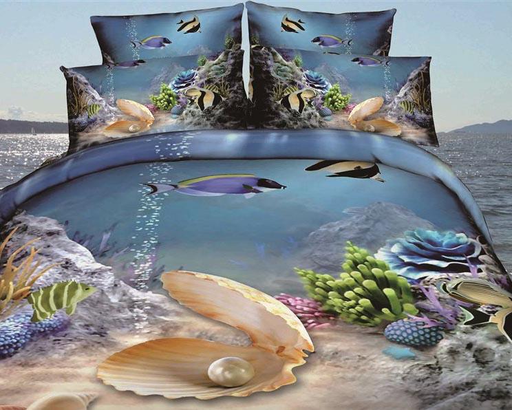 Постельное белье и покрывала 3D эффекта: трехмерные картины в спальне