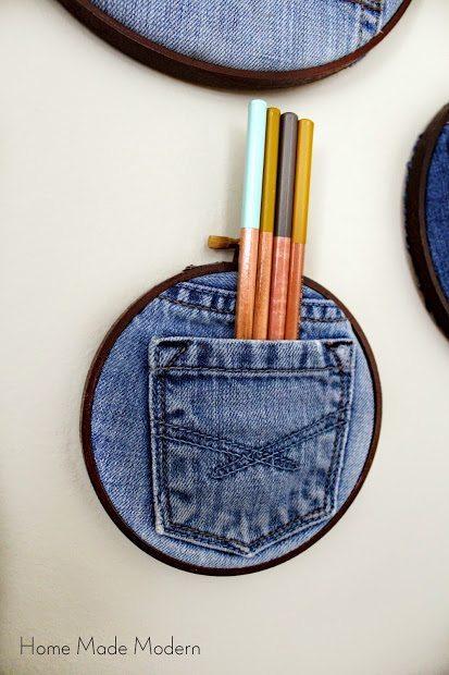 Декор предметов интерьера тканью: деним в дизайне дома