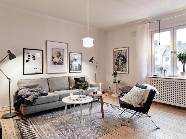 Ковер в скандинавском стиле: утонченность и легкость помещения