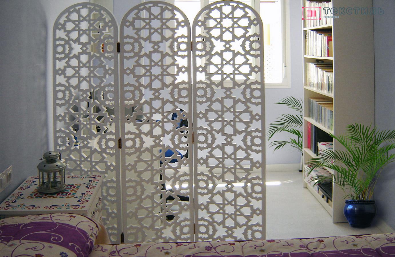 Преображение интерьера с помощью декоративной ширмы