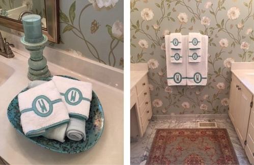 Красивые полотенца с символикой, именем или надписями