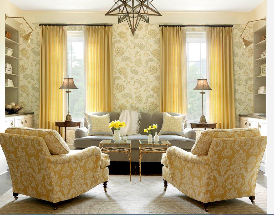 черный карниз для золотых штор в гостиную