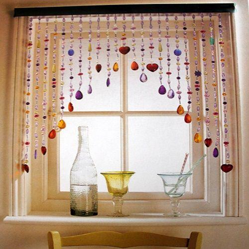 стеклянные шторы на окно кухни