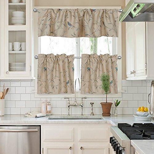 двойная штора на кухню