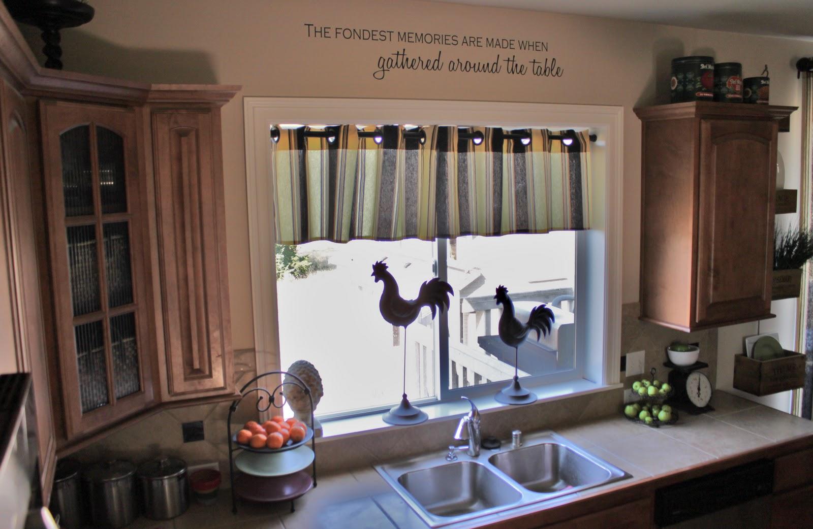 короткая штора на кухонное окно