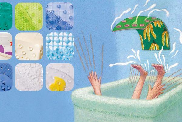 противоскользящий коврик в ванную для детей