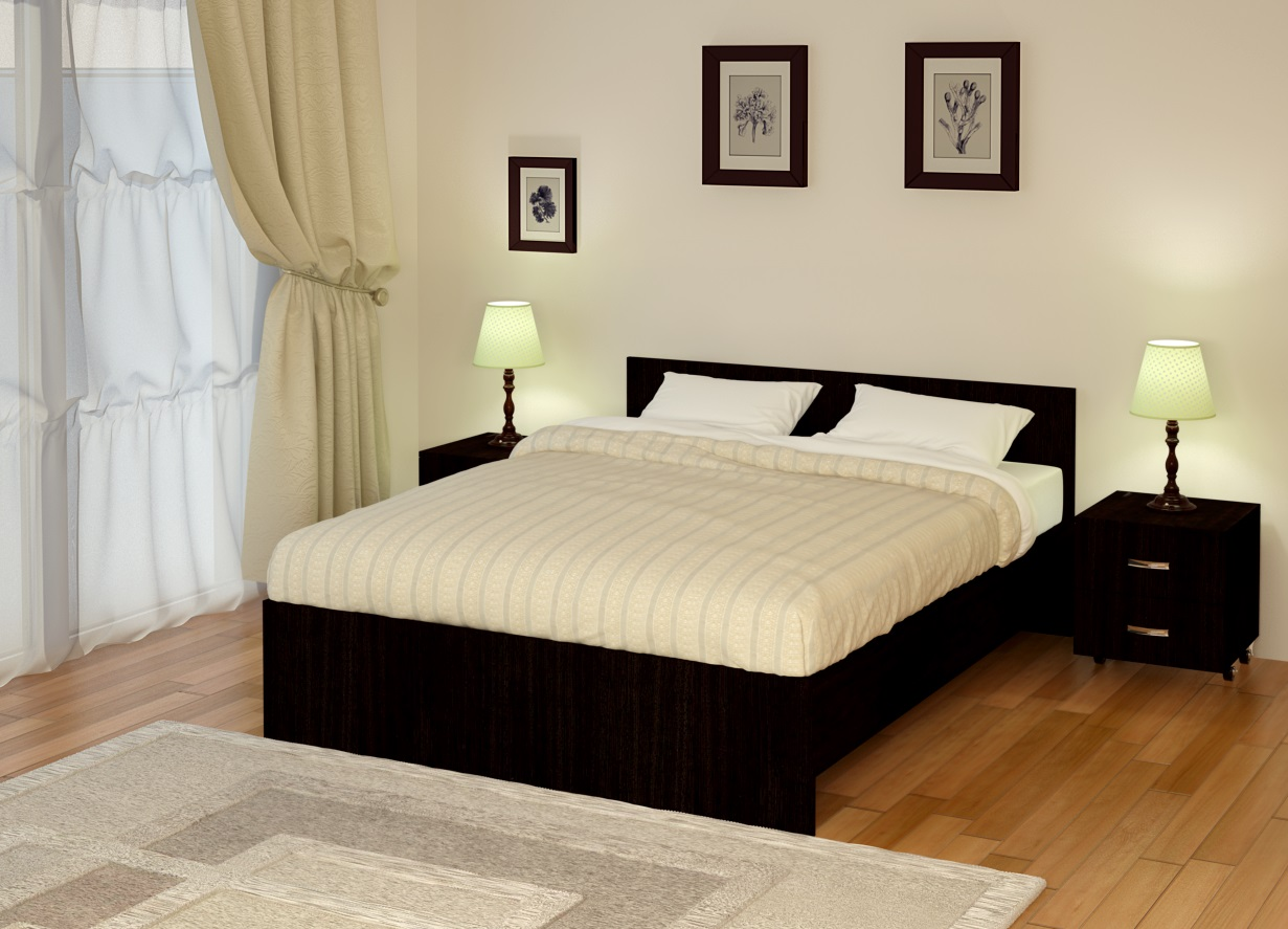 стильная кровать без белья
