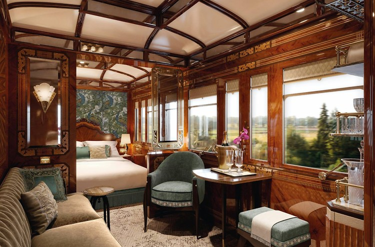 вагон класса люкс в The Orient Express