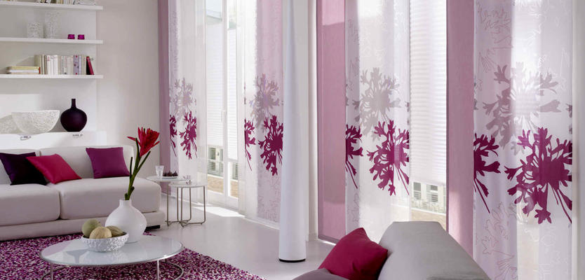 японские шторы в интерьере квартиры