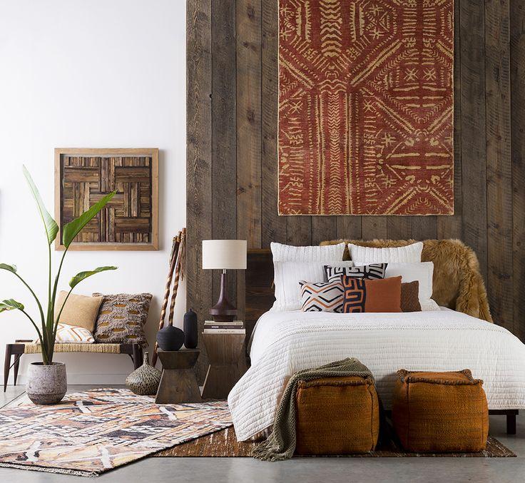 спальня в африканском эклектичном стиле