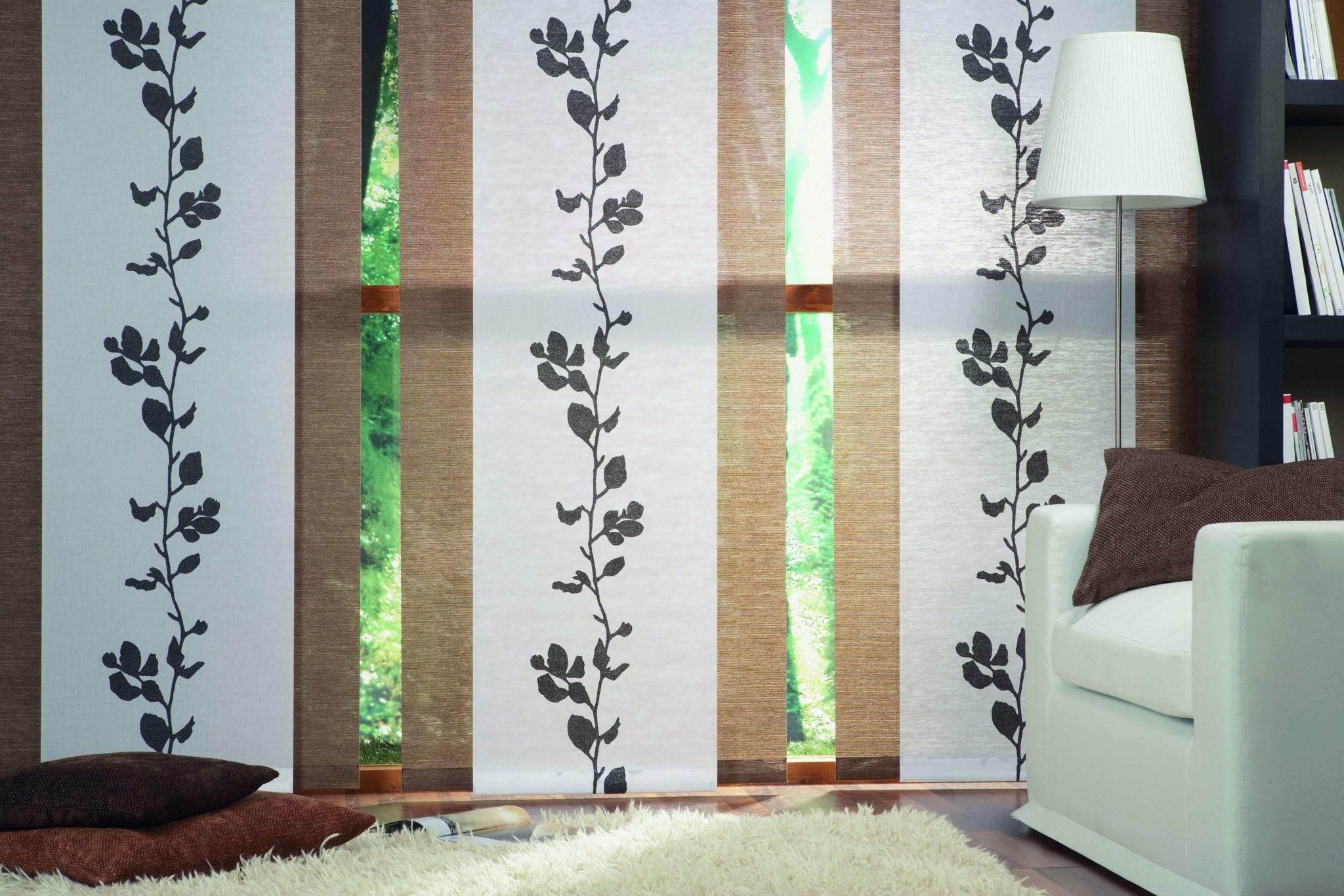 Занавески в японском стиле: штора-перегородка или тюль с аутентичным узором