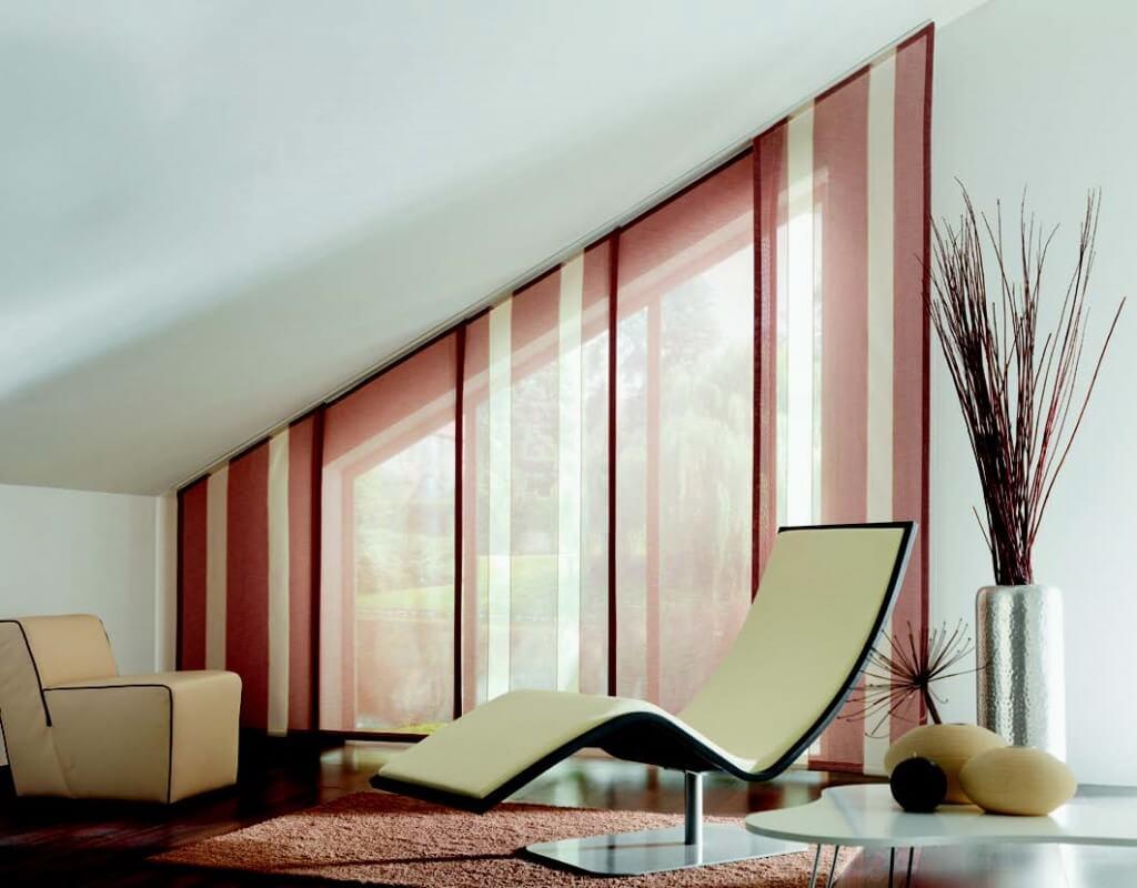панельные шторы в японском стиле