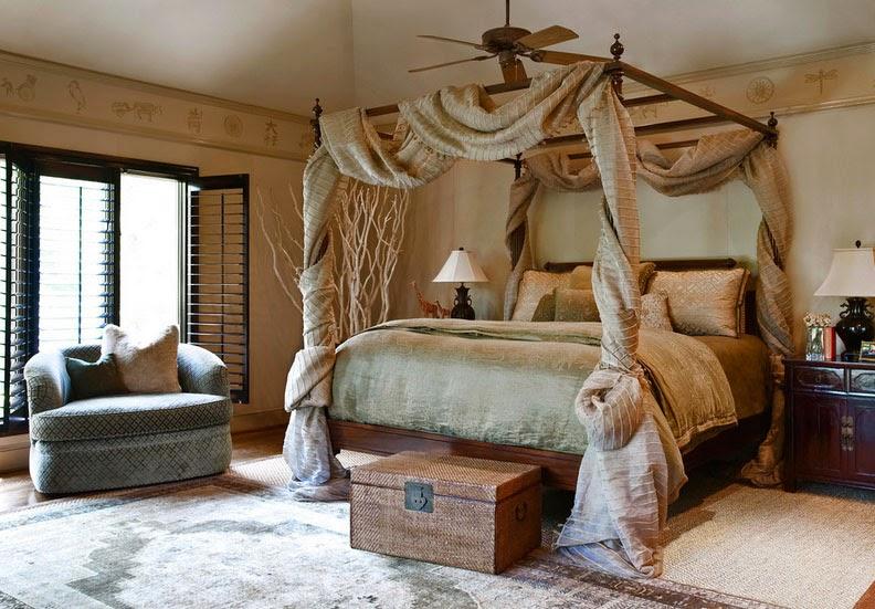балдахин в старинном стиле в спальне