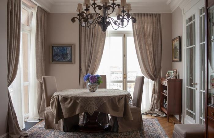 льняные занавески в комнату