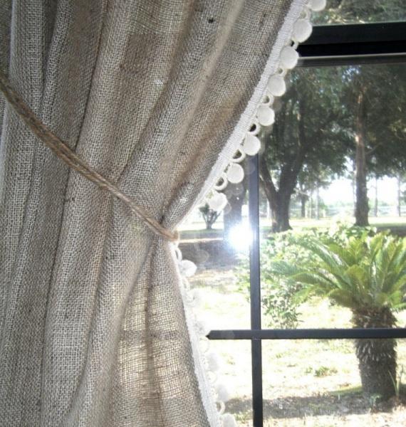занавески изо льна на окна