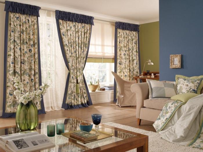 красивые льняные шторы в интерьере