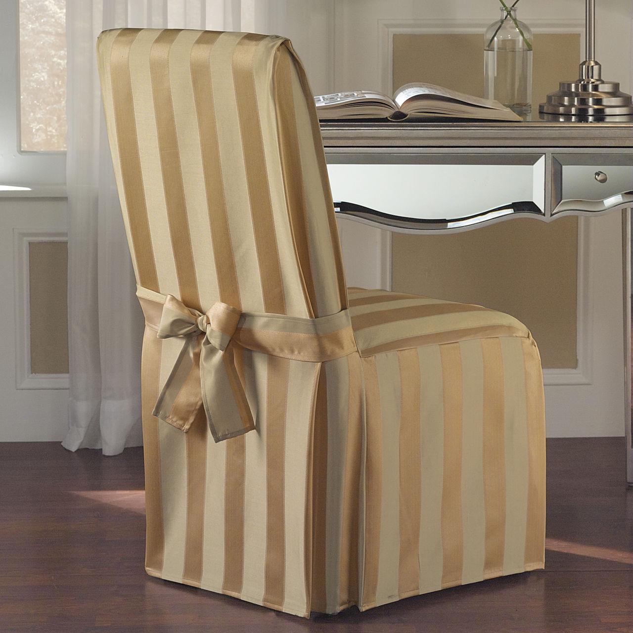чехол на стул со спинкой из сатиновой ткани